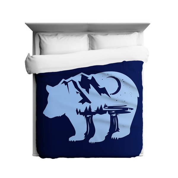 Sharp Shirter Bearscape Duvet Cover