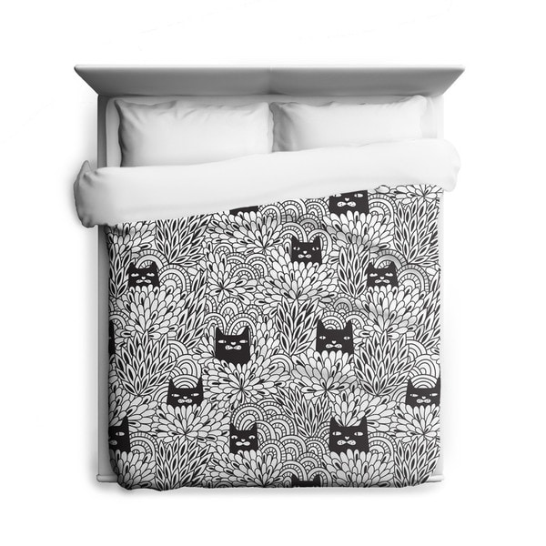 Sharp Shirter Shady Cats/ Cat Duvet Cover/ Printed in Usa