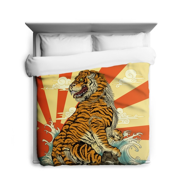 Sharp Shirter Rising Tiger/ Japanese Duvet Cover/ Printed in Usa