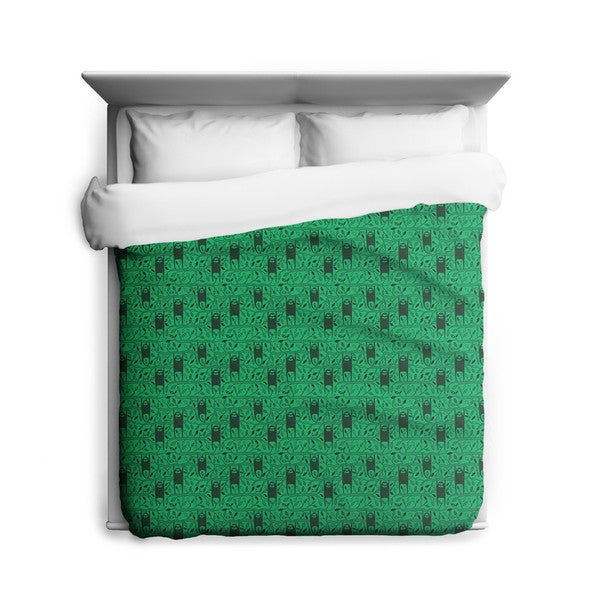Sharp Shirter Let's Hang/ Sloth Duvet Cover/ Printed in Usa