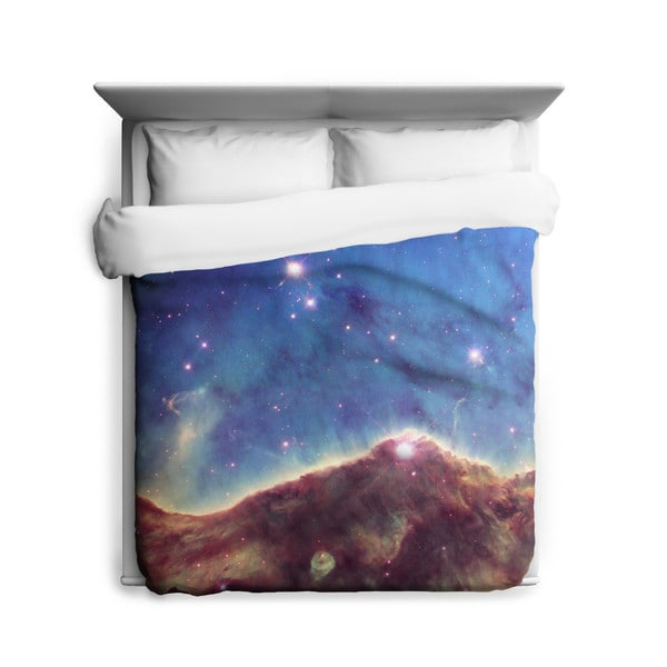 Sharp Shirter Landscape of The Cosmos Duvet Cover