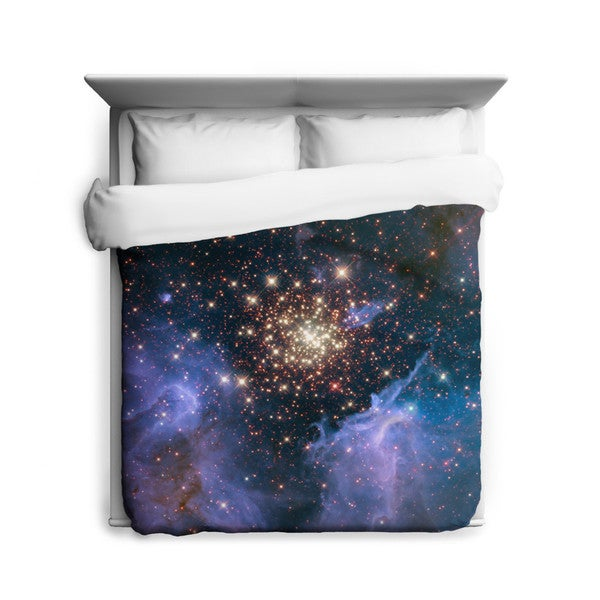 Sharp Shirter Celestial Fireworks Duvet Cover