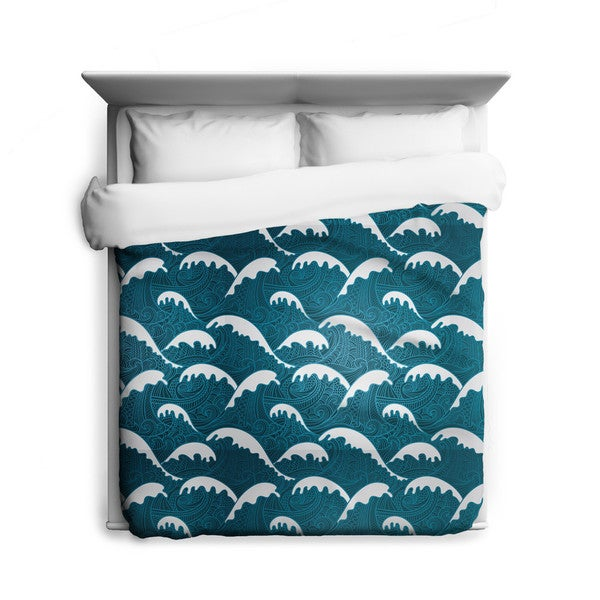 Sharp Shirter Calm Waves/ Zen Duvet Cover/ Printed in Usa