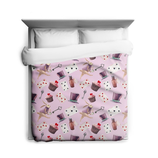 Sharp Shirter Alice in Wonderland/ Rabbit Duvet Cover/ Printed in Usa