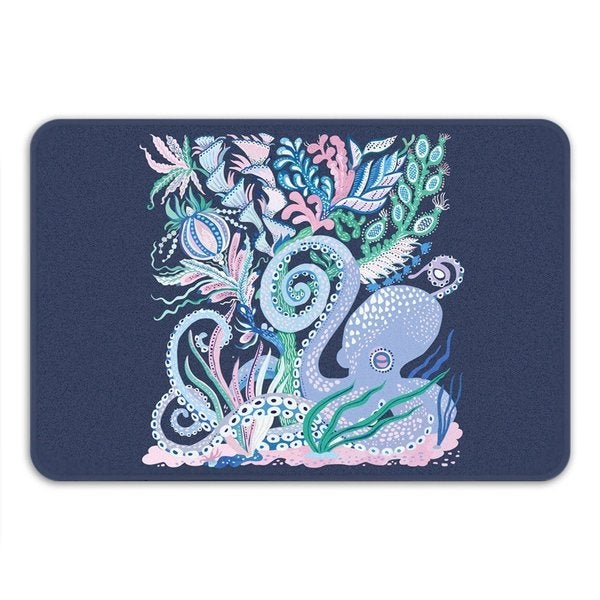 Sharp Shirter Octoparty Navy Bath Mat 19146137