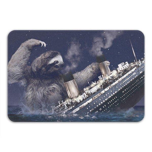 Sharp Shirter Slothberg Memory Foam Bath Mat 19146150