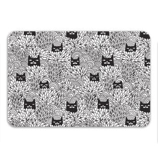 Sharp Shirter Shady Cats Memory Foam Bath Mat