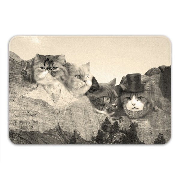 Sharp Shirter Meowmore Memory Foam Bath Mat 19146195