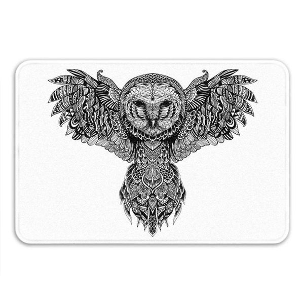 Sharp Shirter Majestic Owl Memory Foam Bath Mat 19146198