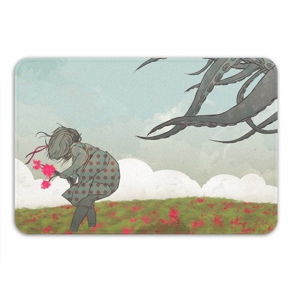 Sharp Shirter Flowers Memory Foam Bath Mat 19146213