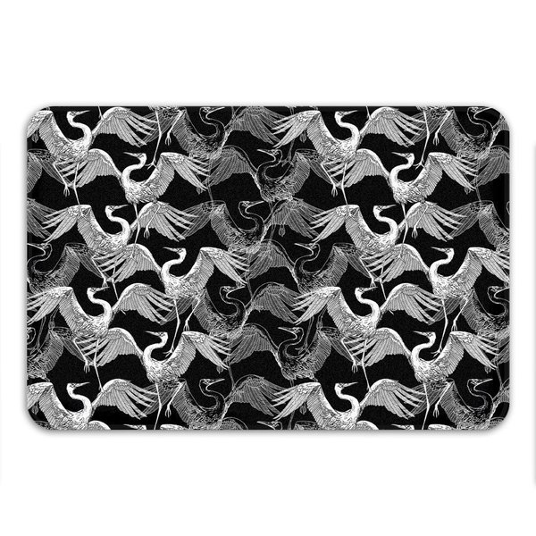 Sharp Shirter Flock of Swans Memory Foam Bath Mat