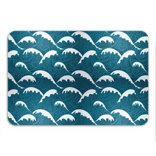 Sharp Shirter Calm Waves Memory Foam Bath Mat