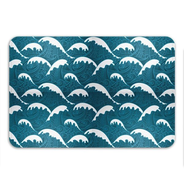 Sharp Shirter Calm Waves Memory Foam Bath Mat 19146244