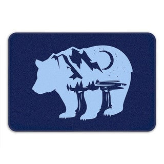Sharp Shirter Bearscape Memory Foam Bath Mat