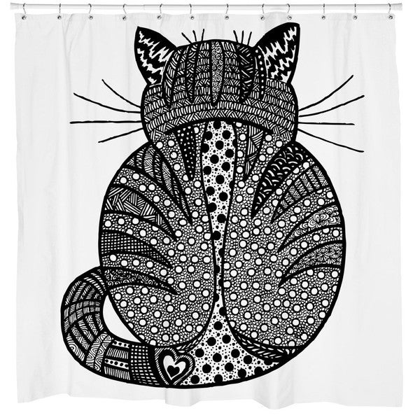 Sharp Shirter Rear View Shower Curtain