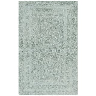Safavieh Plush Master Grand Border Sky Blue Bath Rug