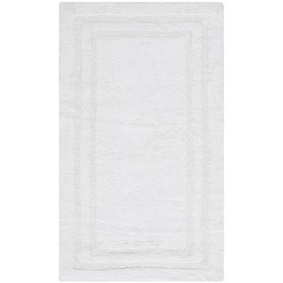 Safavieh Plush Master Grand Border Crystal White Bath Rug