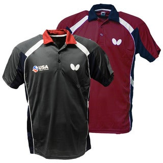 Butterfly Men's USA Table Tennis Team Red/Grey Polyester Shirt