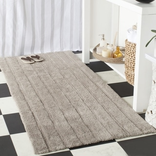 Safavieh Plush Master Spa Stripe Grey Bath Rug