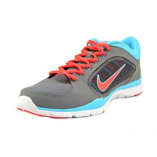Nike Women's Flex Trainer 4 Grey Man-made Athletic Running Shoes