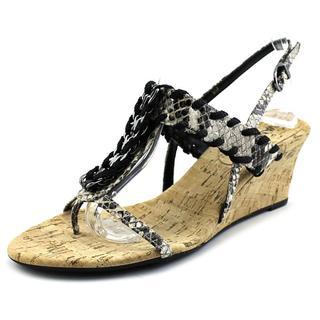 Vaneli Women's Mirage Black Leather Sandals
