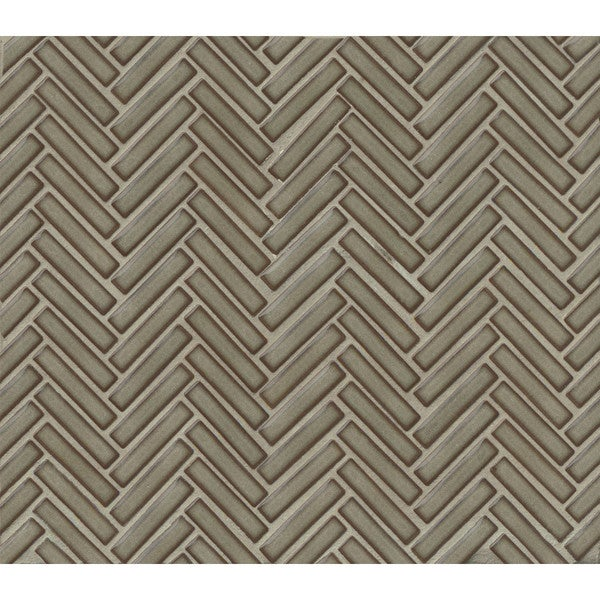 Bedrosians Herringbone Mosaic Grey Haze Porcelain 10 Sheets of Tiles