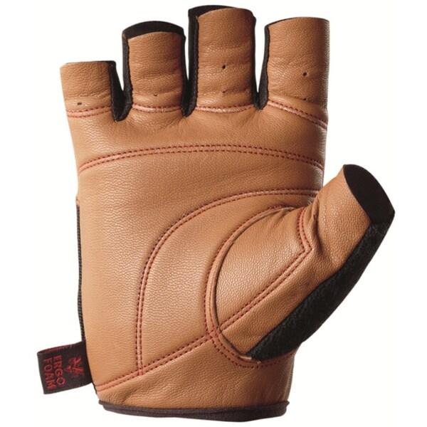 Valeo Pro Ocelot Tan Supreme Goat Grain Leather Workout Glove