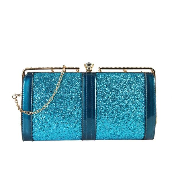 Rimen & Co. Women's Shiny Sequin Clutch Handbag in Pink (As Is Item) 26513615