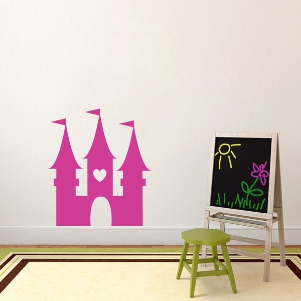 Princess Castle' 32 x 36-inch Vinyl Wall Decal 19150926