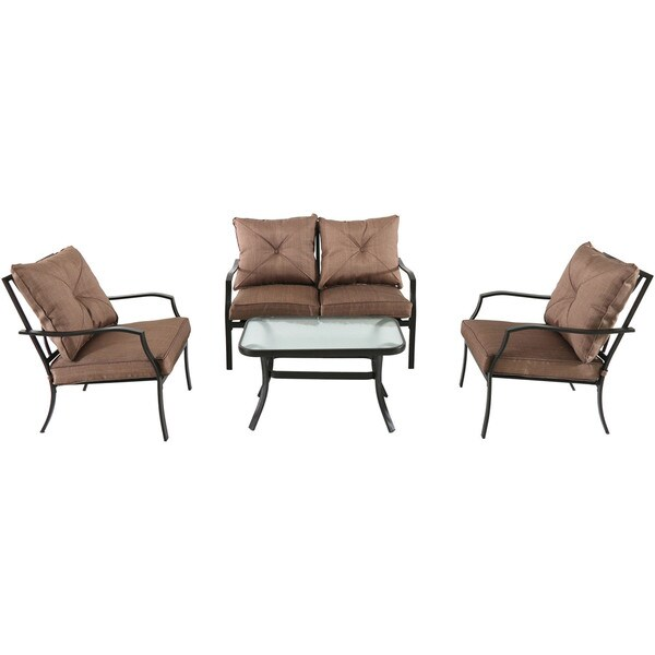 Cambridge Crawford Tan Polyester and Steel 4-piece Patio Set