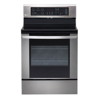 LG LRE3061ST Stainless Steel 6.3 cu. ft. Single Oven Electric Range With EasyClean