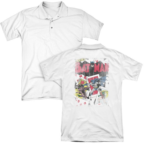 DC/Number 11 Distressed (Back Print) Mens Regular Fit Polo in White