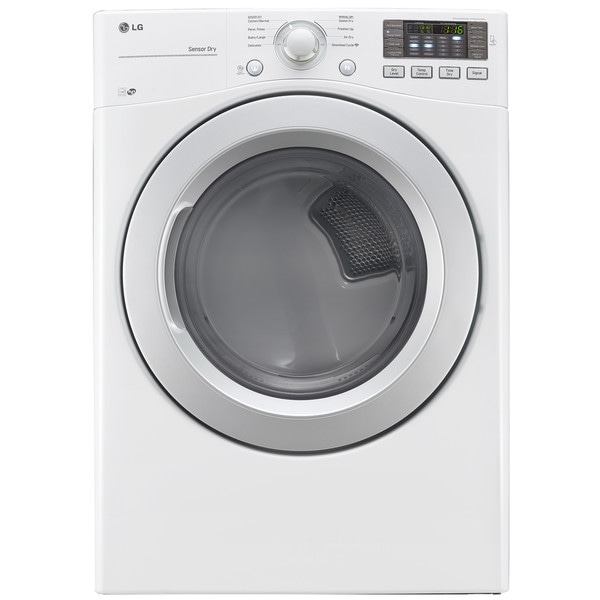 LG DLG3171W White Stainless Steel 7.4-cubic-foot Ultra-large Capacity Front-load Dryer