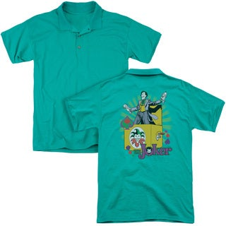 DC/These Fish Are Loaded (Back Print) Mens Regular Fit Polo in Kelly Green