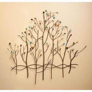 Multicolor Metal Tree Wall Decor