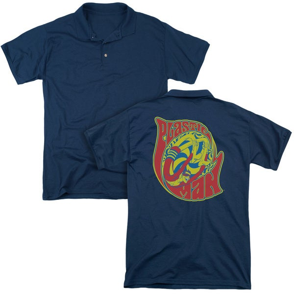 DC/How I Roll (Back Print) Mens Regular Fit Polo in Navy
