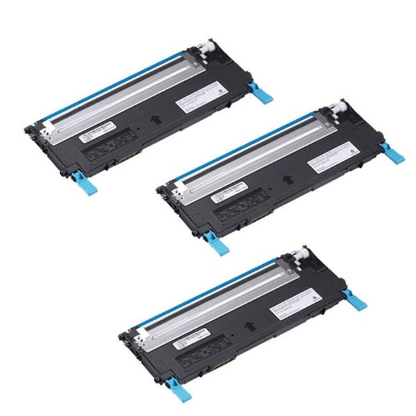 3PK Compatible Dell 1230 C Toner Cartridge For Dell 1230 1235 ( Pack of 3 )