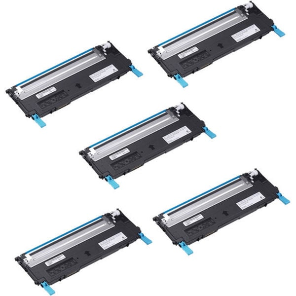 5PK Compatible Dell 1230 C Toner Cartridge For Dell 1230 1235 ( Pack of 5 )