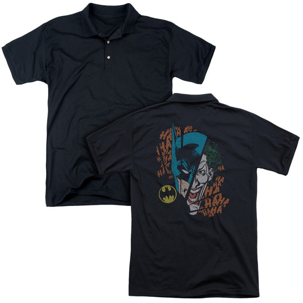 DC/Broken Visage (Back Print) Mens Regular Fit Polo in Black