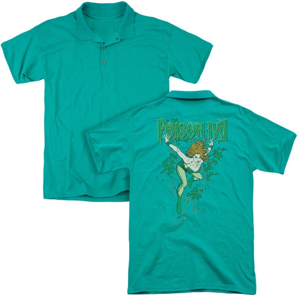 DC/Poison Ivy (Back Print) Mens Regular Fit Polo in Kelly Green