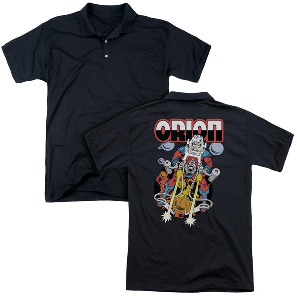 DC/Orion (Back Print) Mens Regular Fit Polo in Black