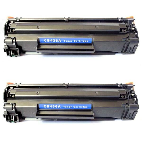 2PK Compatible CB436A (36A) Black Toner Cartridge For HP LaserJet P1505 P1505N M1522N M1522N MFP (Pack of 2)