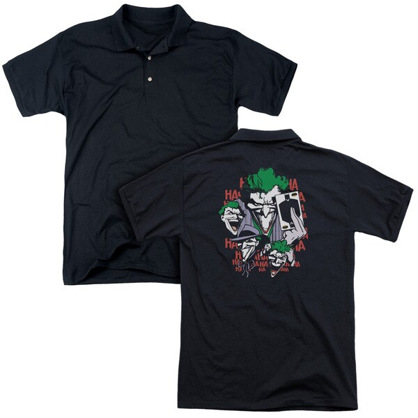 DC/Four Of A Kind (Back Print) Mens Regular Fit Polo in Black