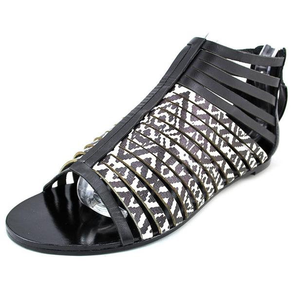 Cynthia Vincent Women's Fame Black Leather Sandals