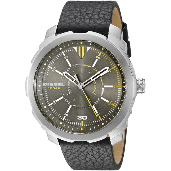Diesel Men's DZ1739 'Machinus NSBB' Black Leather Watch