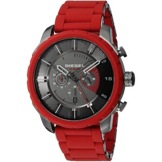 Diesel Men's DZ4384 'Stronghold' Chronograph Red Silicone Watch