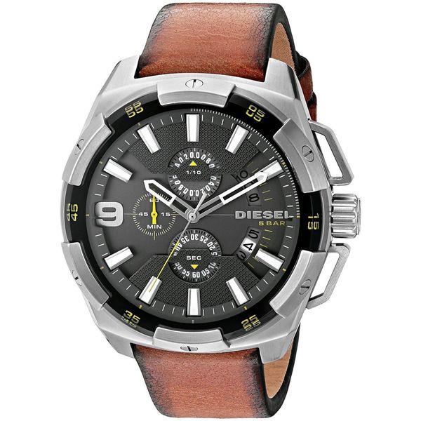 Diesel Men's DZ4393 'HeavyWeight' Chronograph Brown Leather Watch