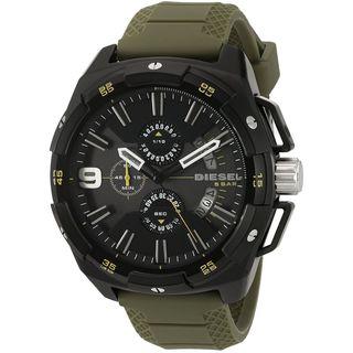 Diesel Men's DZ4396 'HeavyWeight' Chronograph Green Silicone Watch