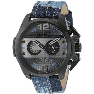 Diesel Men's DZ4397 'Ironside' Chronograph Blue Cloth and Leather Watch