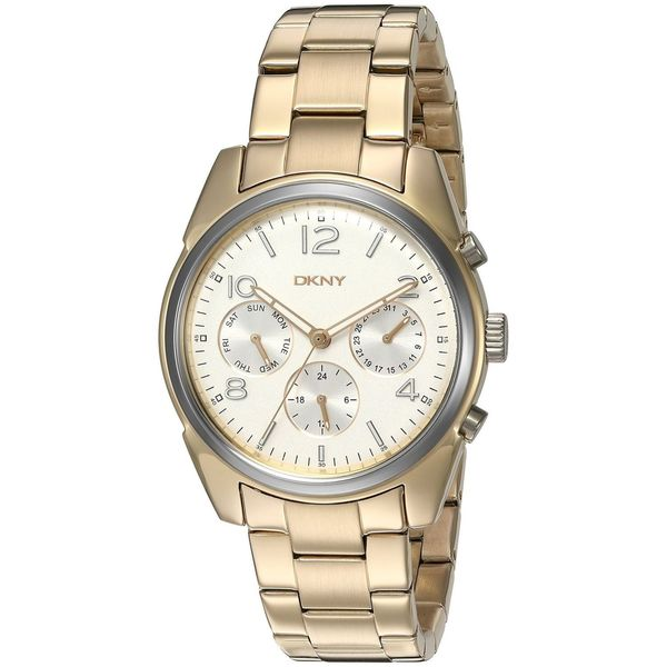 DKNY Women's NY2471 'Crosby' Multi-Function Gold-tone Stainless Steel Watch